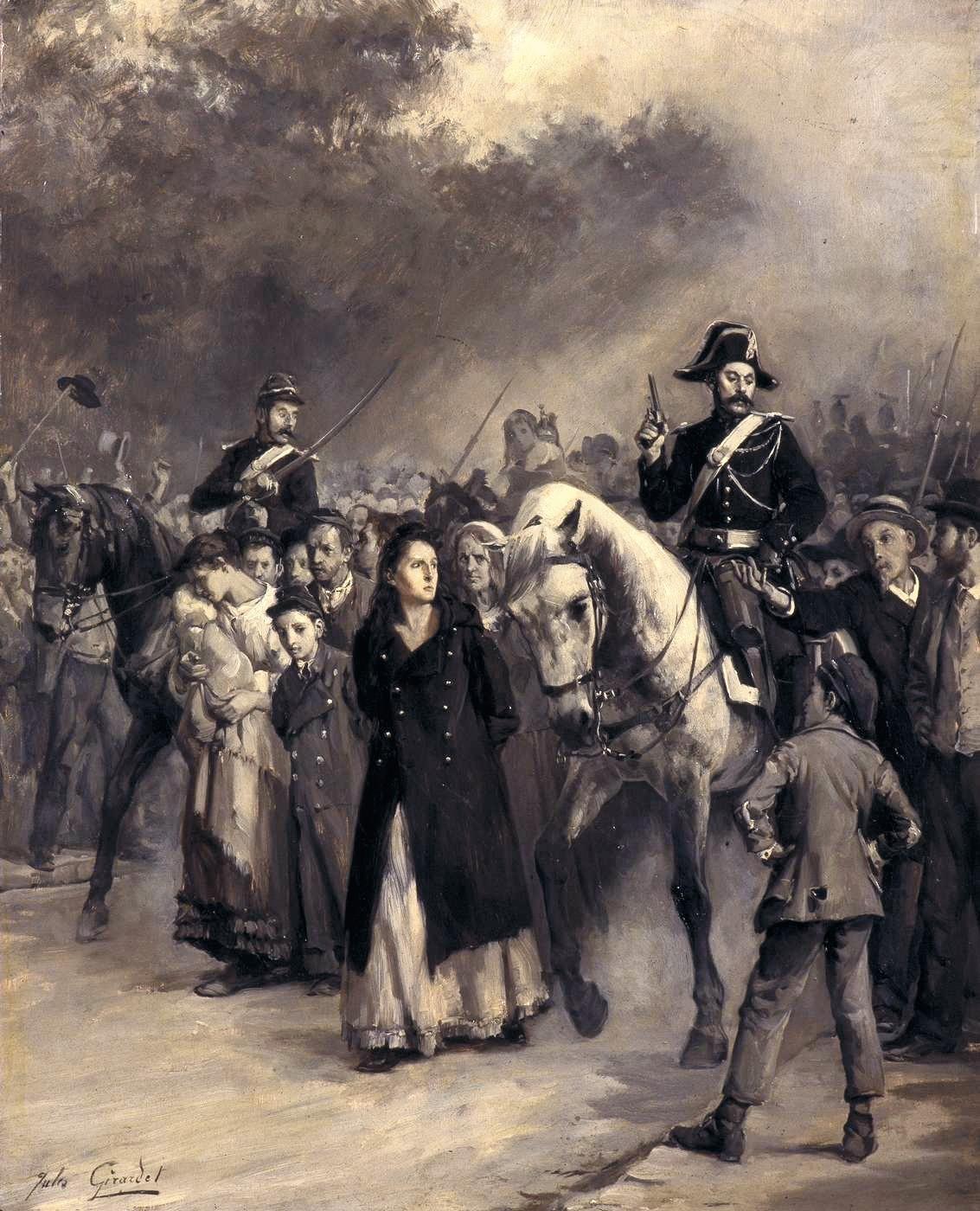Jules Girardet, L'Arrestation de Louise Michel