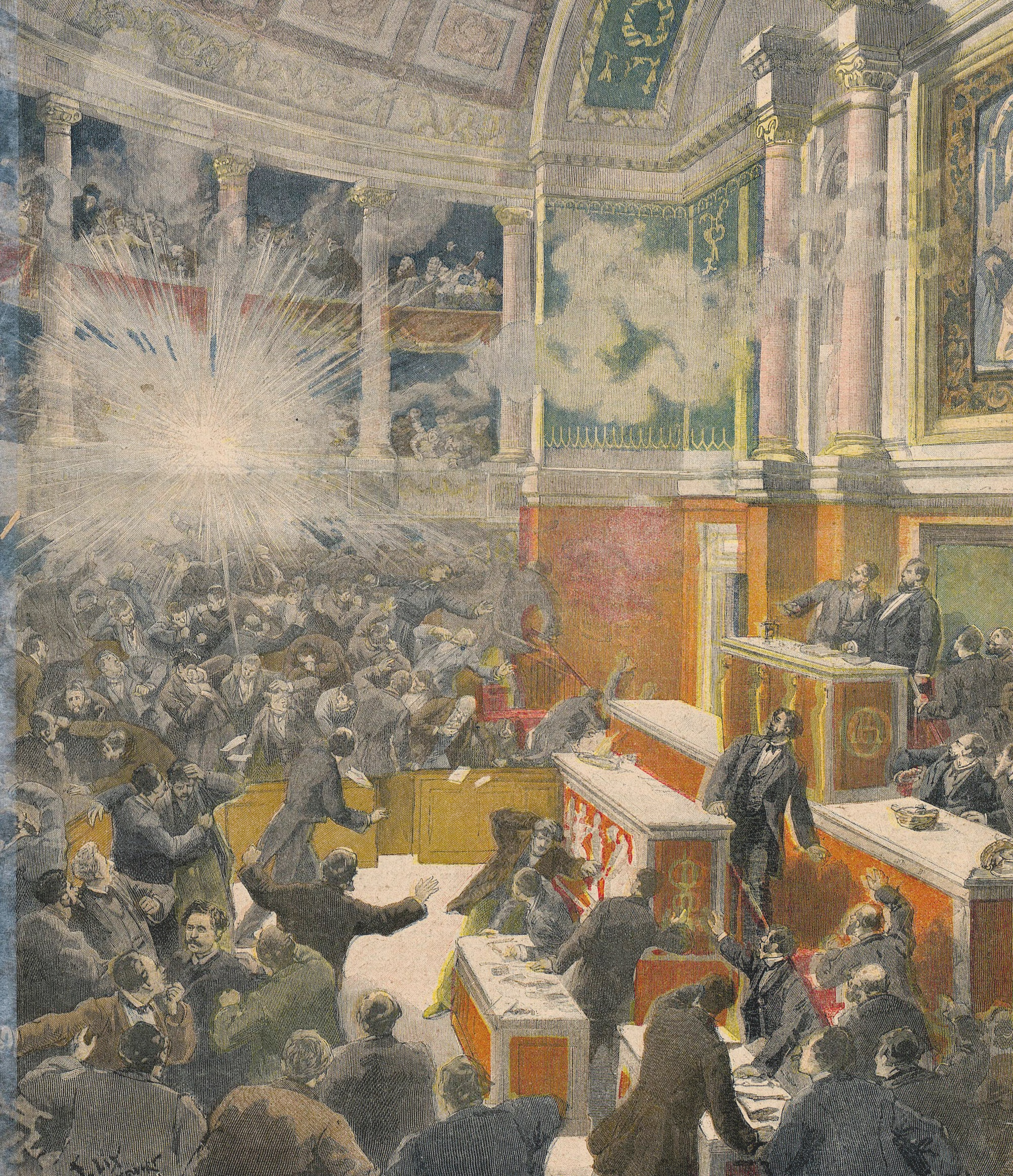 Attentat à la Chambre des députés, le 9 décembre 1893, Une du Petit Journal