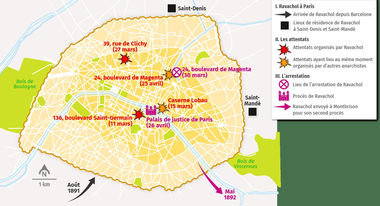 carte Ravachol à Paris
