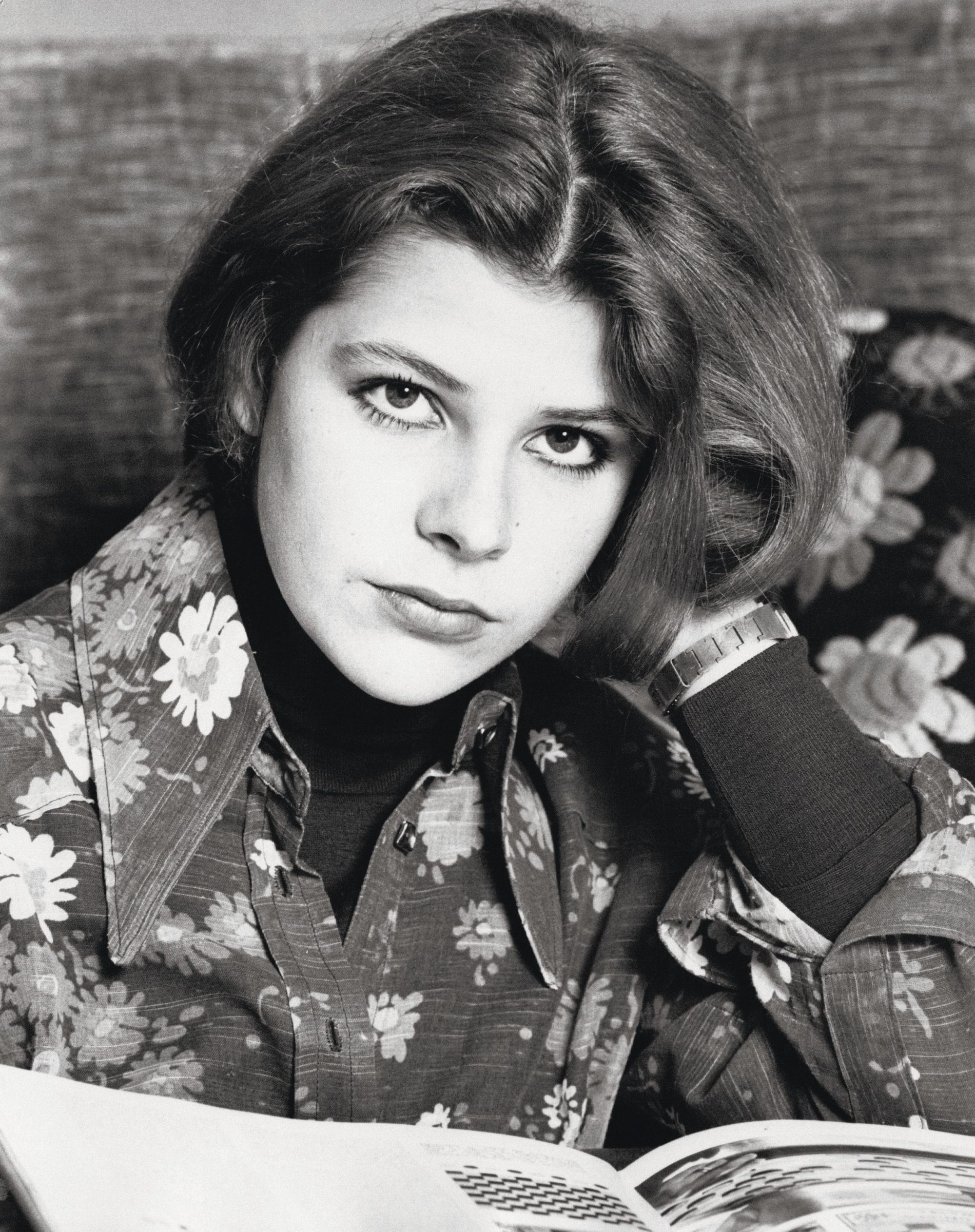 Angelo Deligio portrait de l'actrice italienne Pamela Villoresi lisant