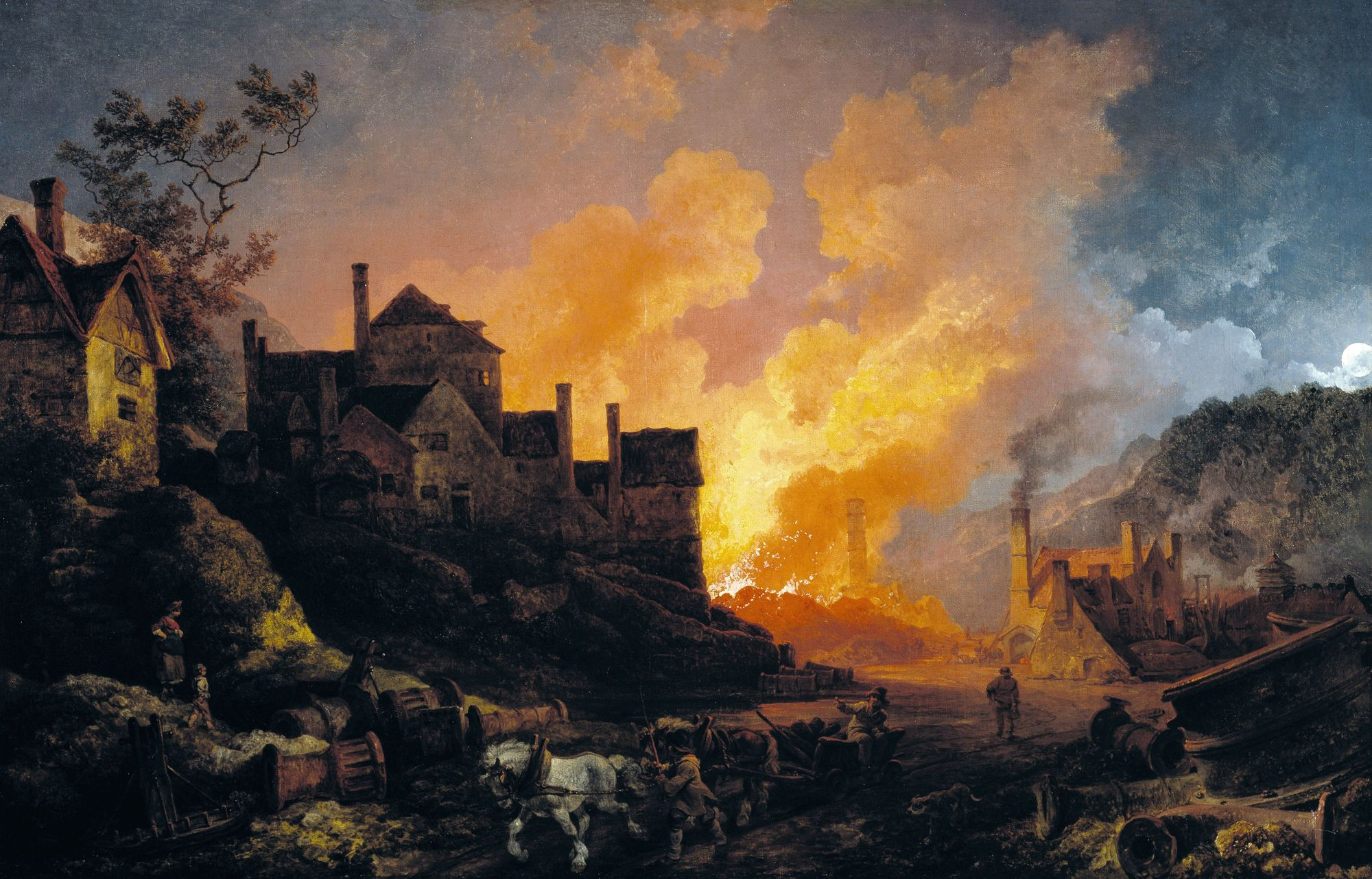 Coalbrookdale by night, Philippe-Jacques de Loutherbourg, 1801.