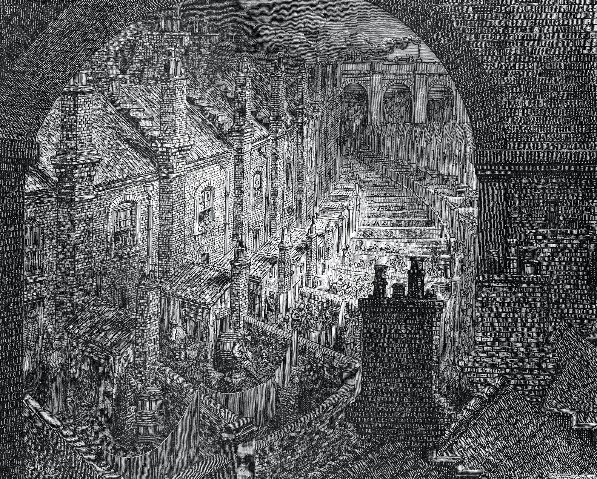Over London by Rail, Gustave Doré, 1872.
