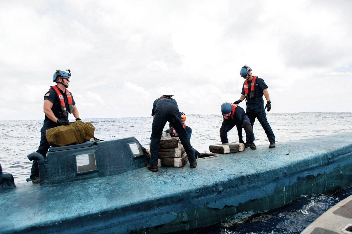 Un sous-marin transportant de la drogue vers les États-Unis