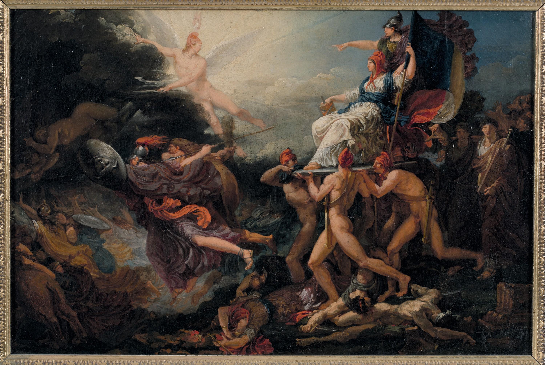 Jacques Réattu, Le Triomphe de la Liberté, 1794, huile sur toile, 34 x 47 cm, musée Réattu, Arles.