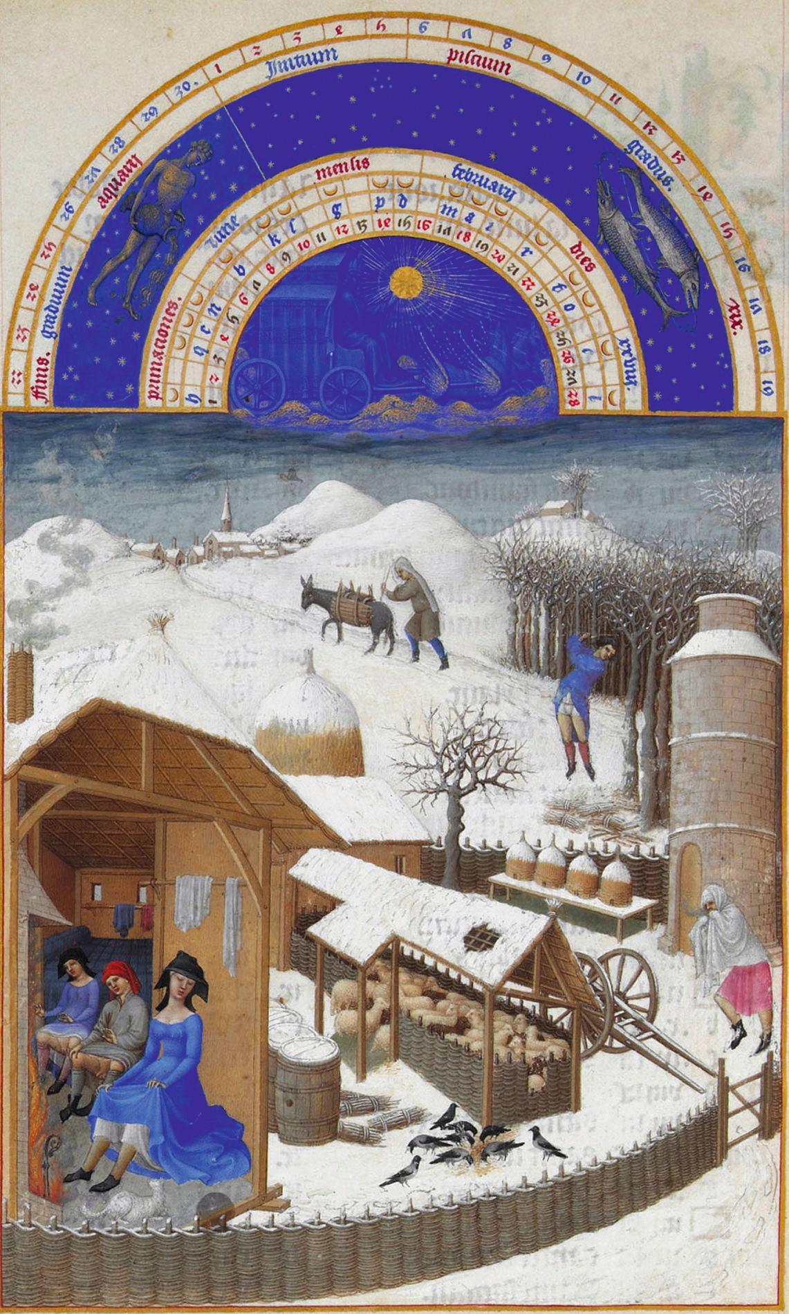 Très Riches Heures du duc de Berry, Février