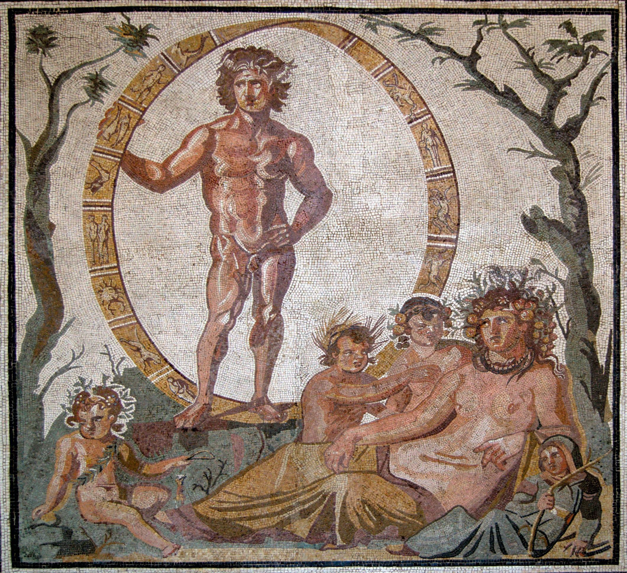 Chronos et Gaïa, mosaïque du IIIe siècle apr. J.-C.
