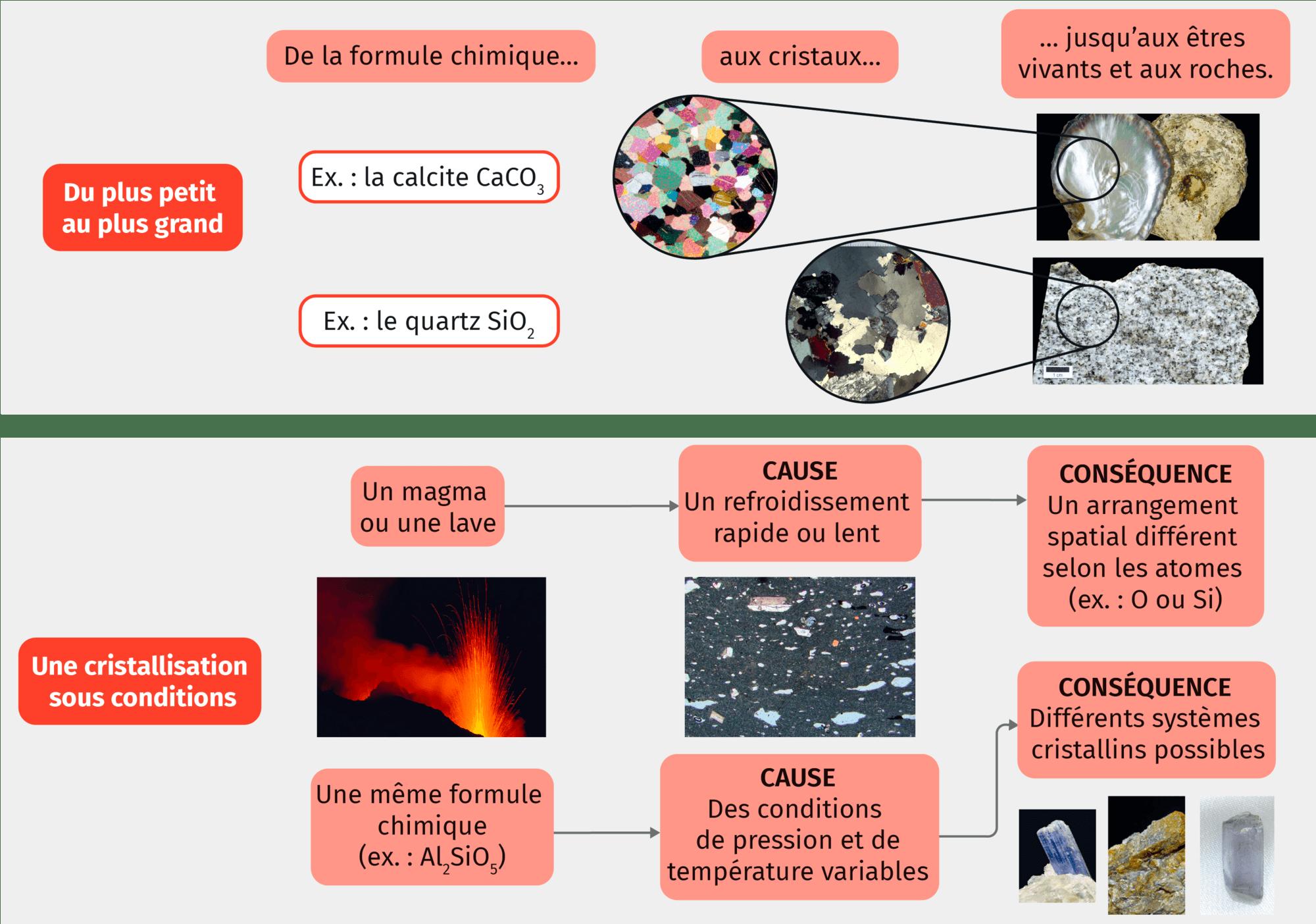 Diversité des cristaux et conditions de cristallisation