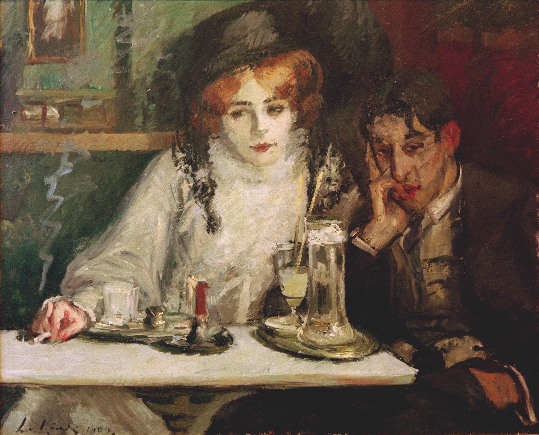 Leo von König, Bohème-Café, huile sur toile, 88× 108 cm, Collection privée, 1909.