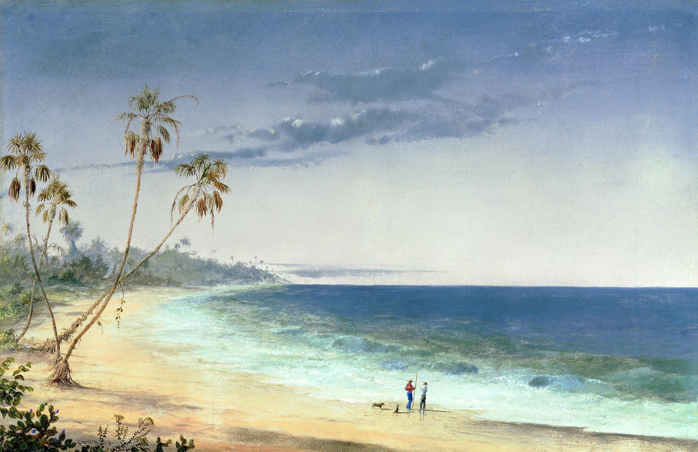 Charles De Wolf Brownell, Paysage cubain, 1866, huile sur toile, collection privée.