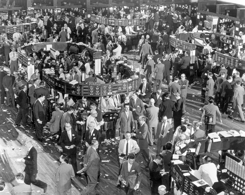 La Bourse de New York dans les années quarante.