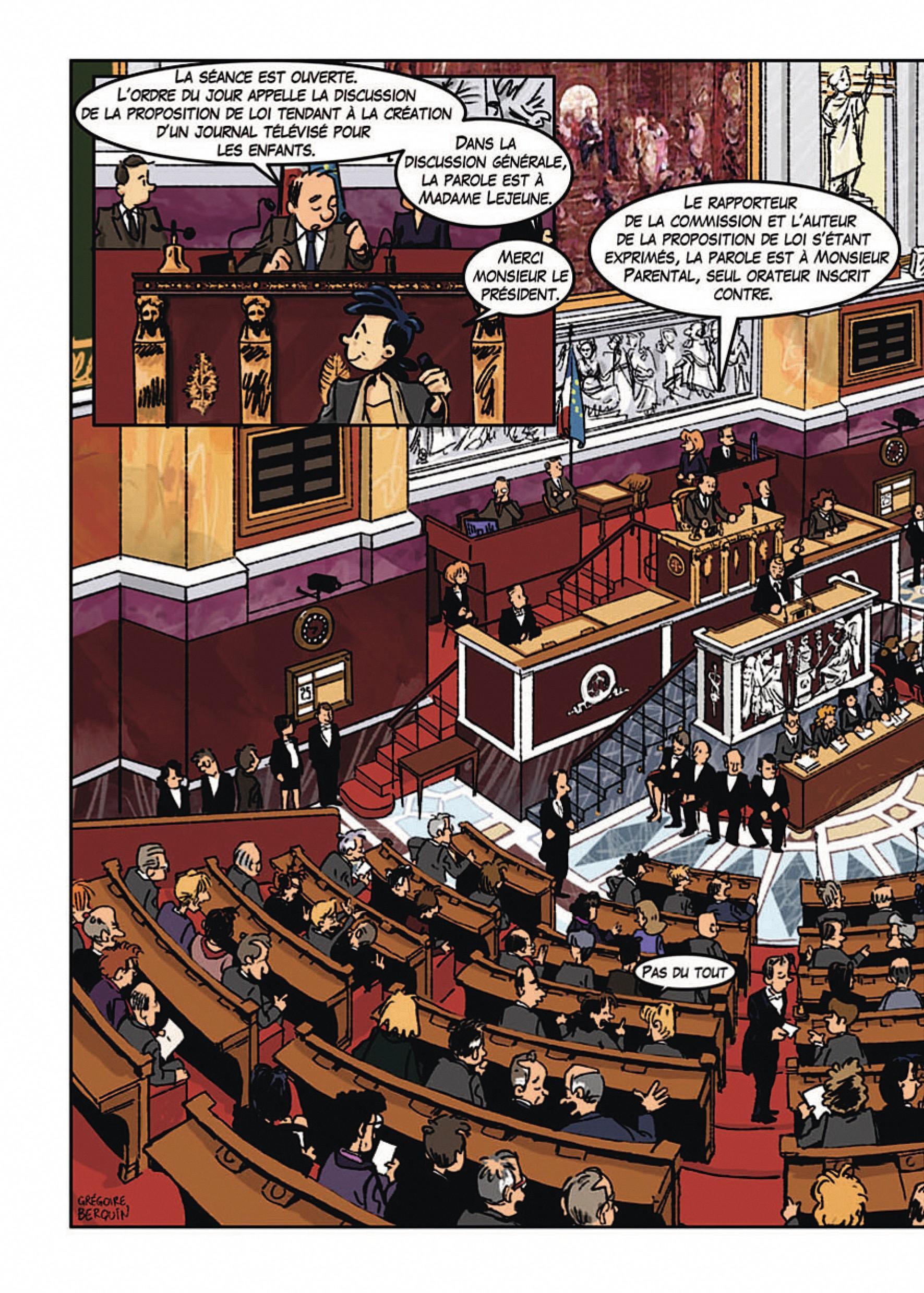 Grégoire Berquin, À la découverte de l'Assemblée nationale, 2011.