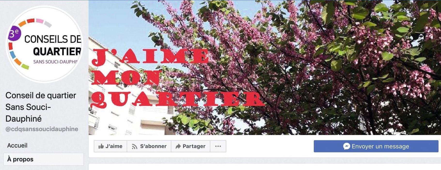 Page Facebook du conseil de quartier Sans-Souci Dauphiné (Lyon, 3e arrondissement).