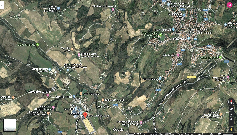 Le conflit autour des implantations industrielles à San Cascian