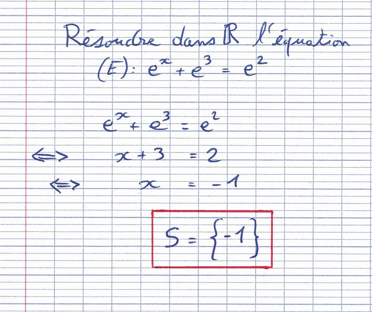 Étude de la fonction exponentielle