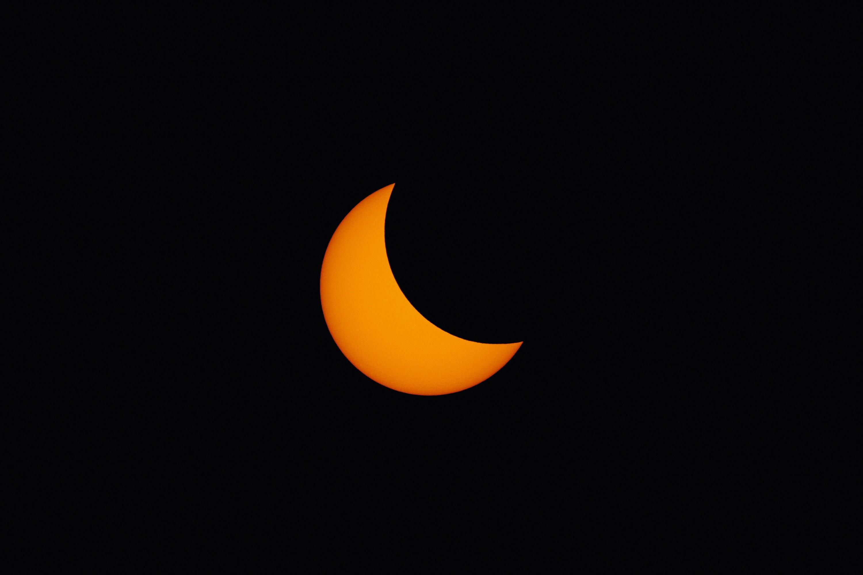 Photo d'une éclipse de Lune au téléobjectif