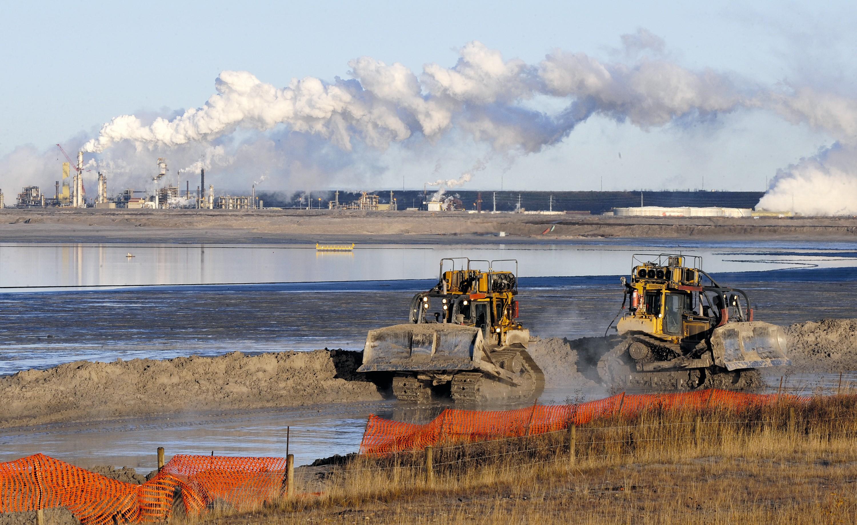 L'extraction du pétrole dans les sables bitumineux en Alberta