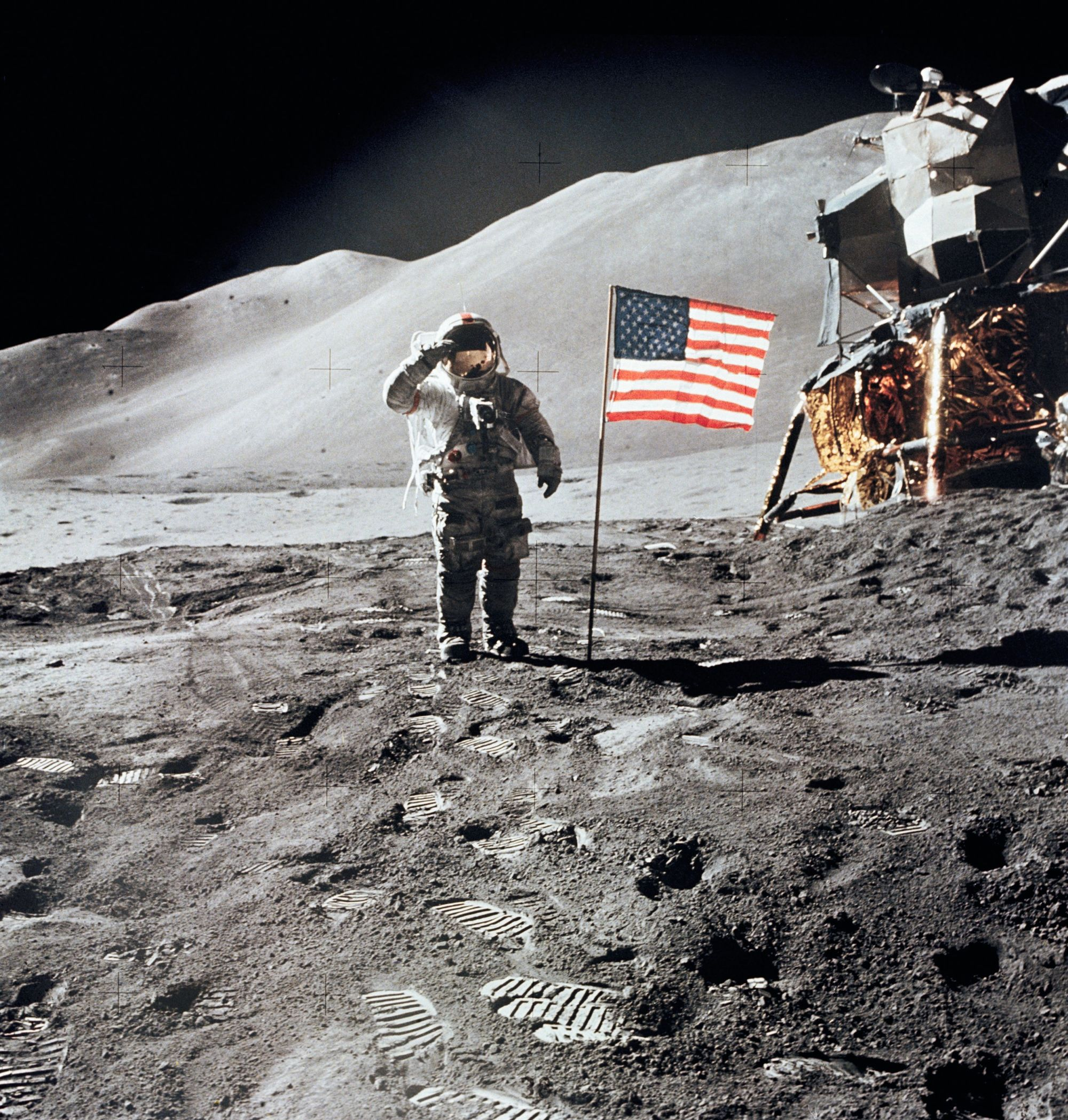 L'astronaute David Scott