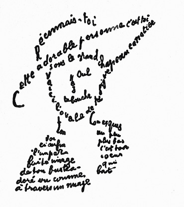 Calligramme Poemes a Lou