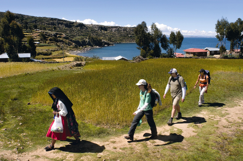 Île d'Amantani, sur le lac Titicaca, Pérou