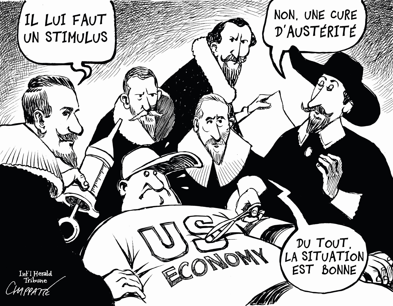 Chappatte, « L'état de l'économie », 2010.