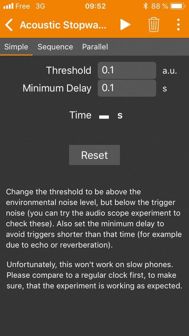 Le module Acoustic Stopwatch