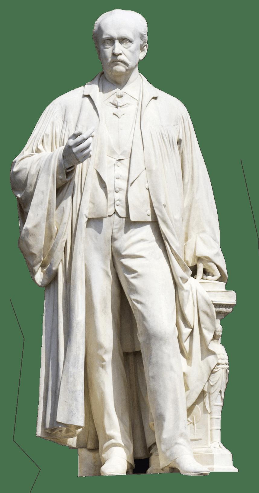 Statue de Helmholtz à l'université de Humboldt.
