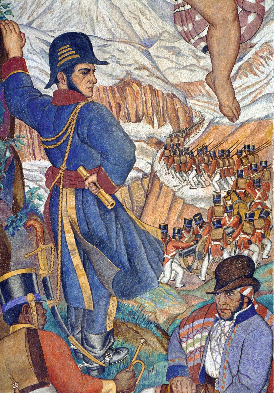 Fernando Leal, 1930-1933. Detalle del fresco del anfiteatro Simón Bolívar, México.