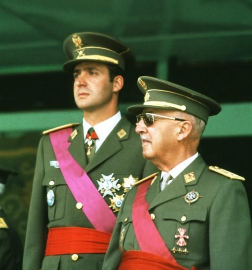 Franco con el príncipe Juan Carlos, anónimo, 1968.
