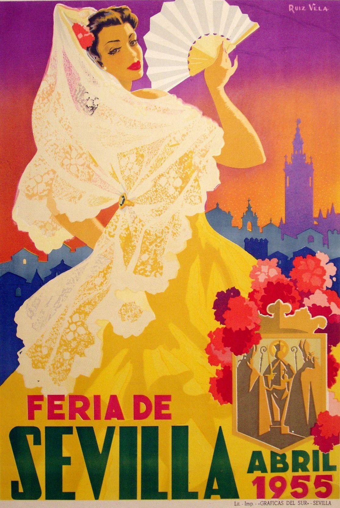 Cartel de la Feria de Sevilla, 1959.