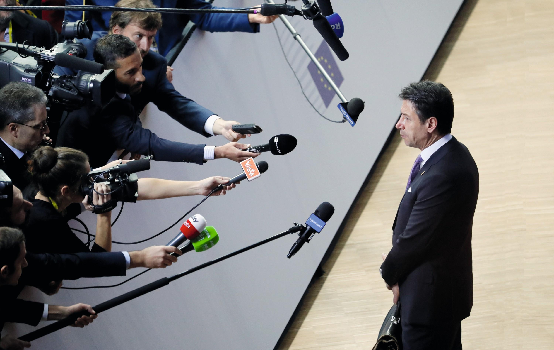 Giuseppe Conte, lors du sommet des chefs d'État européens, en octobre 2018.
