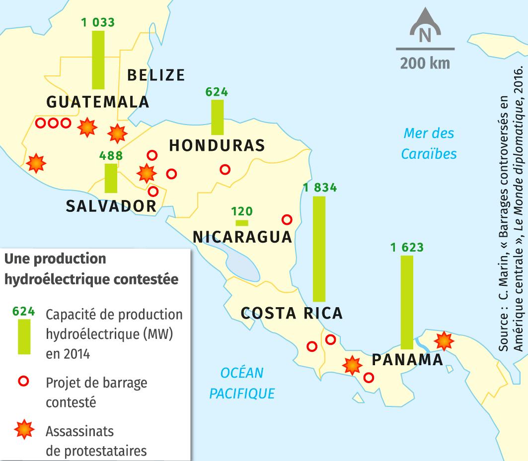 Barrages controversés et conflits fonciers en Amérique centrale