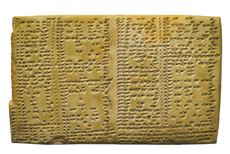 Table d'inverses, Uruk - histoire des maths
