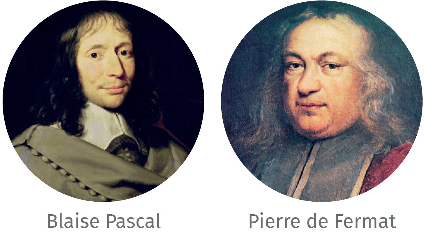 Portraits de Blaise Pascal et de Pierre de Fermat