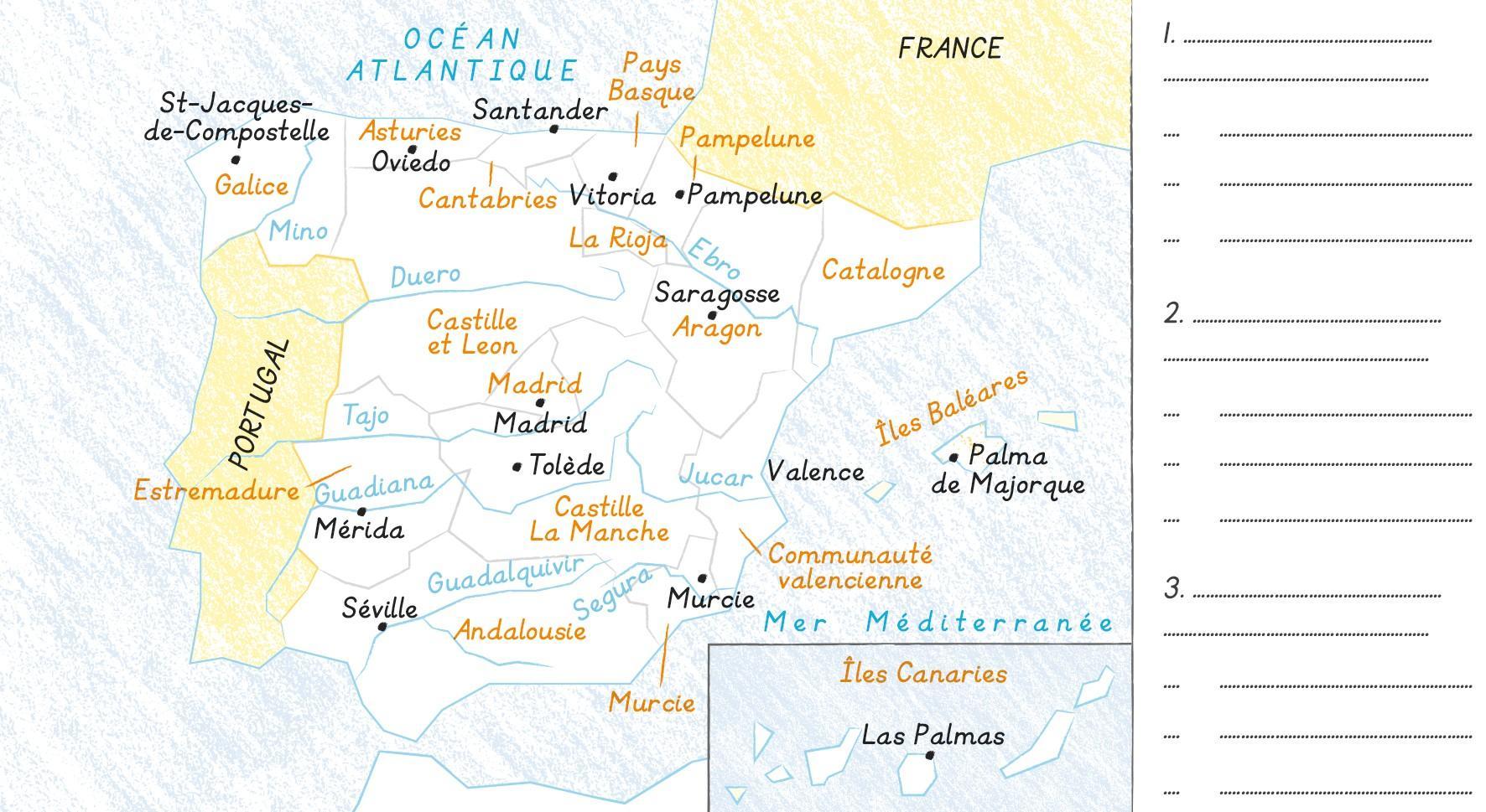 Fond de carte Espagne