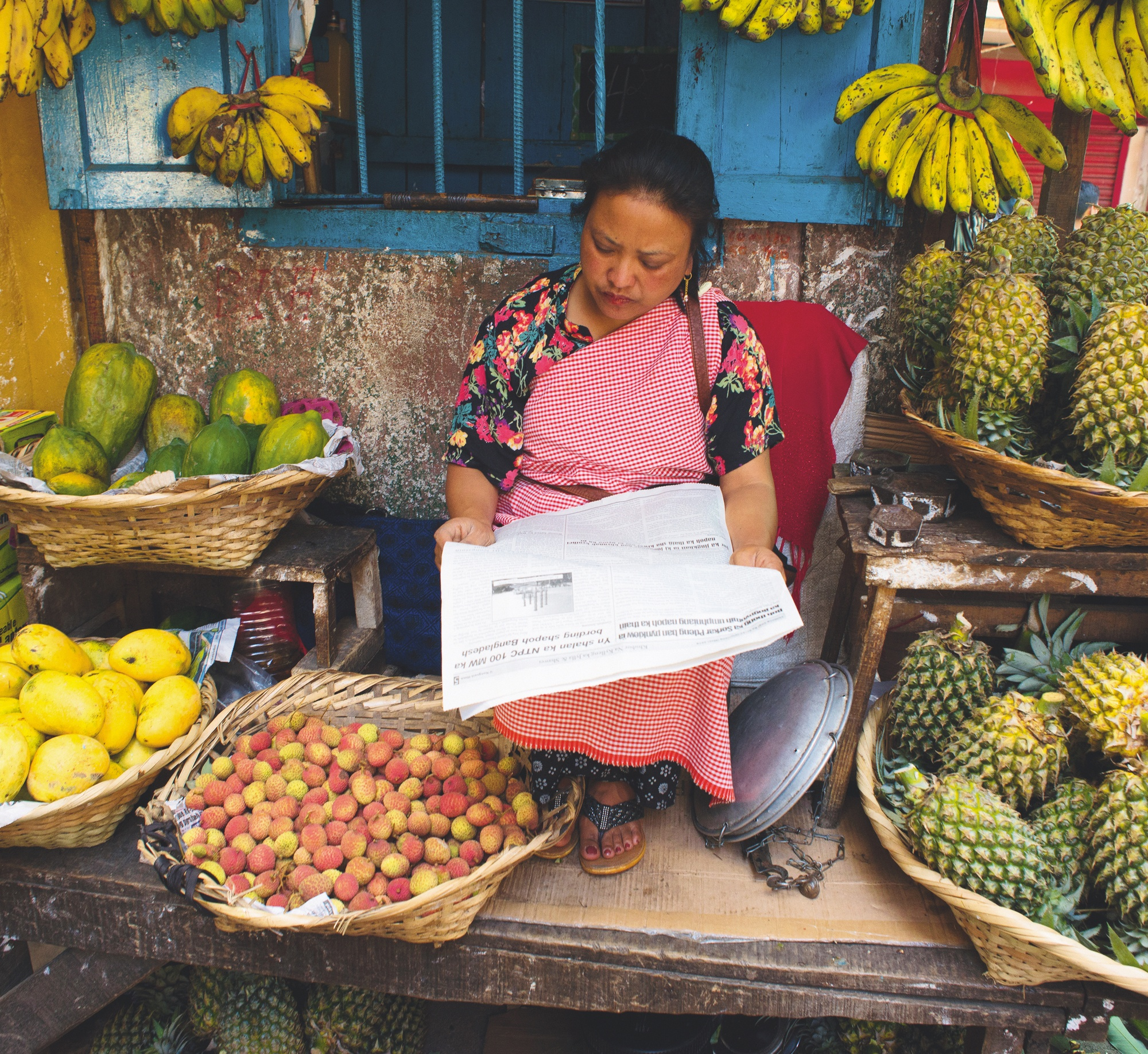 une commerçante du peuple Khasi.