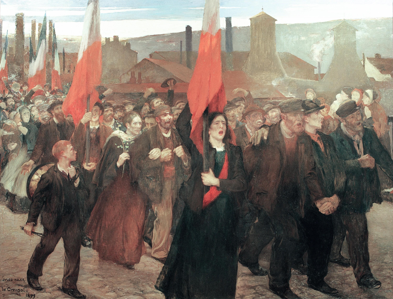 Jules Adler, Grève au Creusot, 1899