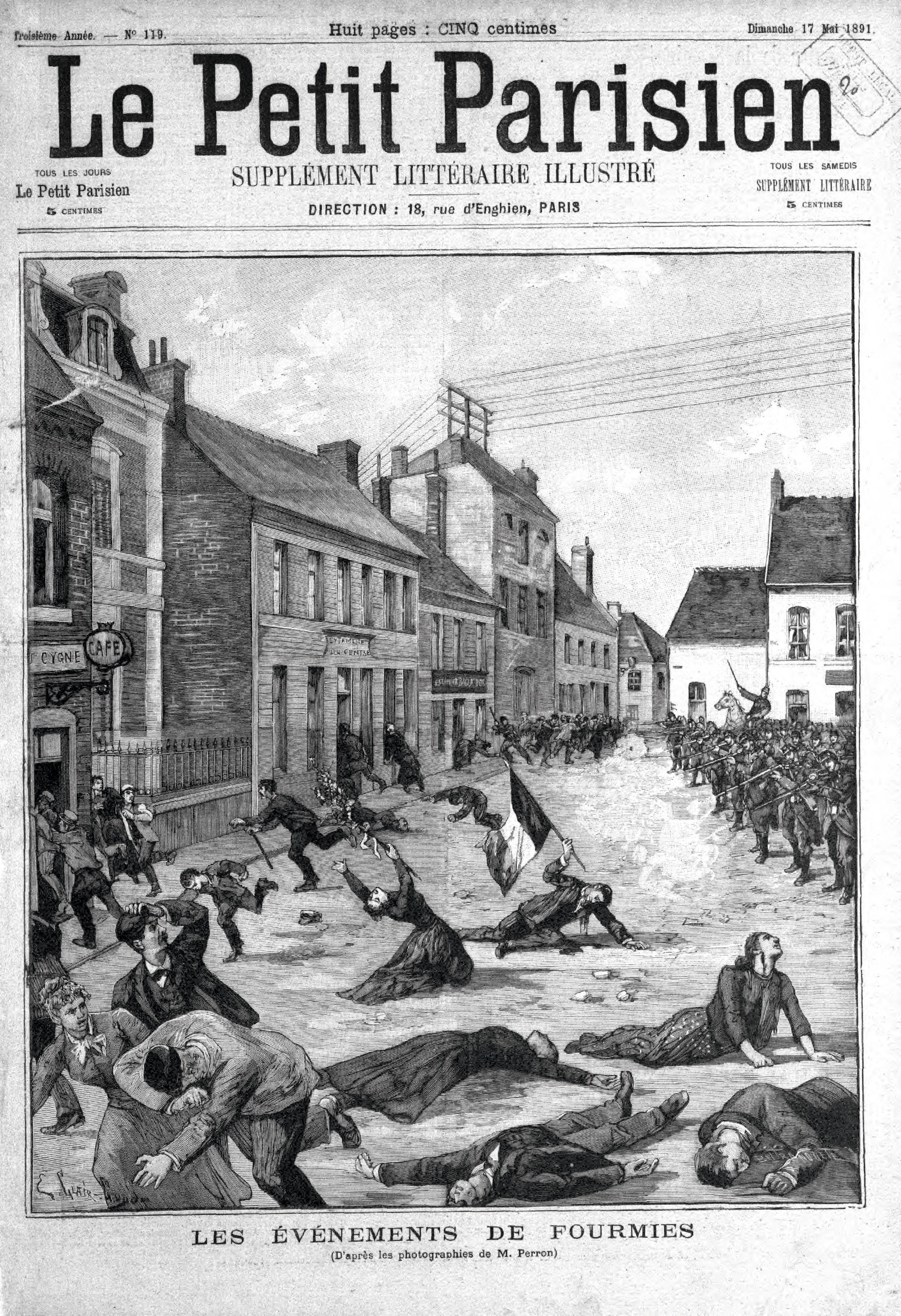 Couverture du Supplément illustré du Petit Parisien le 17 mai 1891.