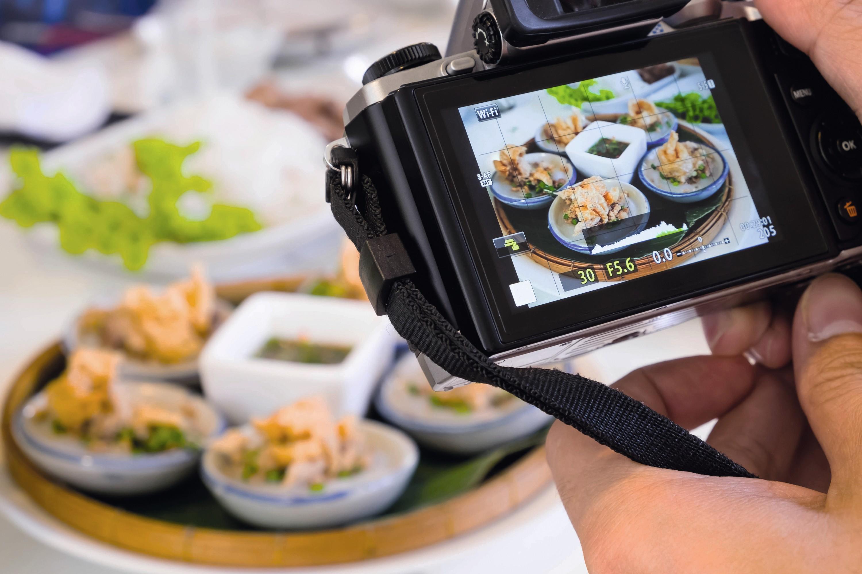 Image d'un plat sur un appareil photo