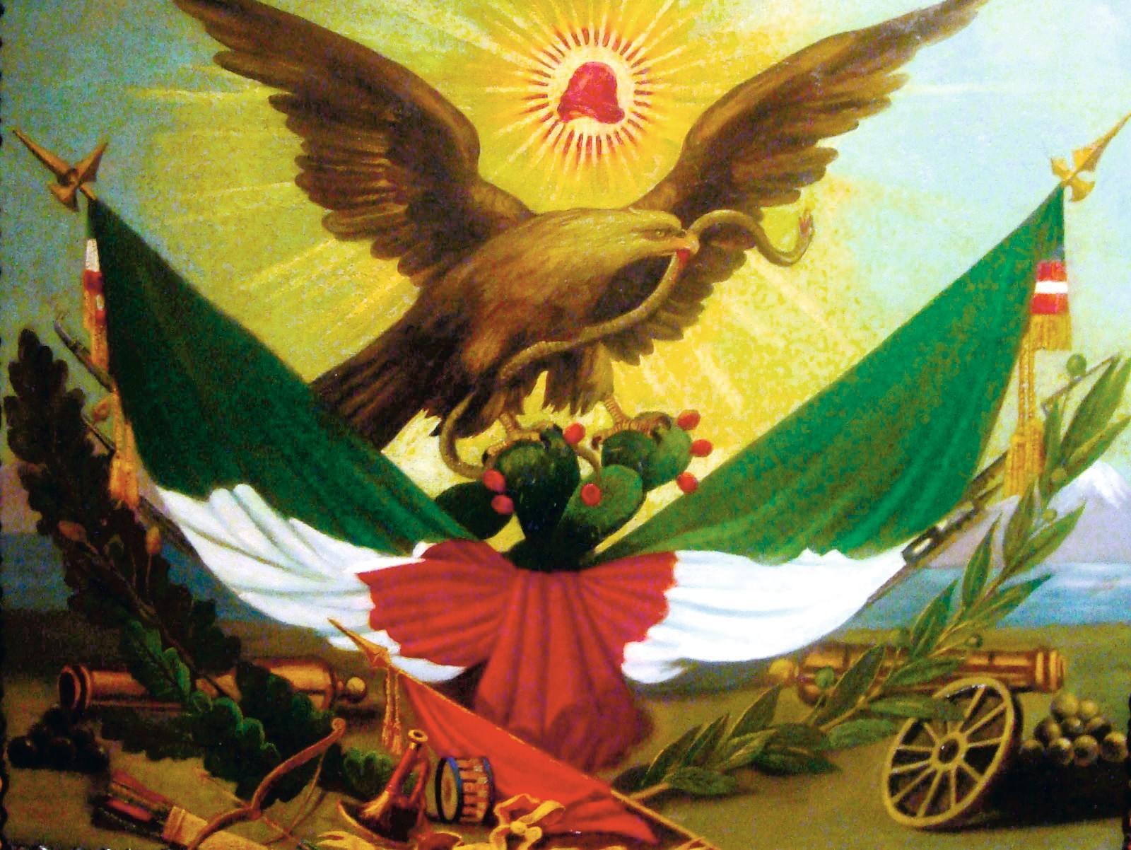 Símbolos de la bandera mexicana