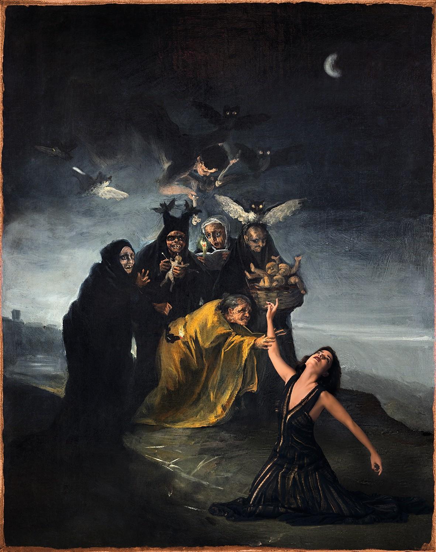 Denise De La Rue, Brujas. Metamorfosis de Goya, 2017.