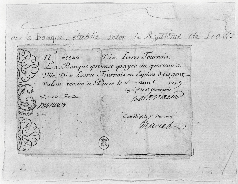 premiers billets de banque en France