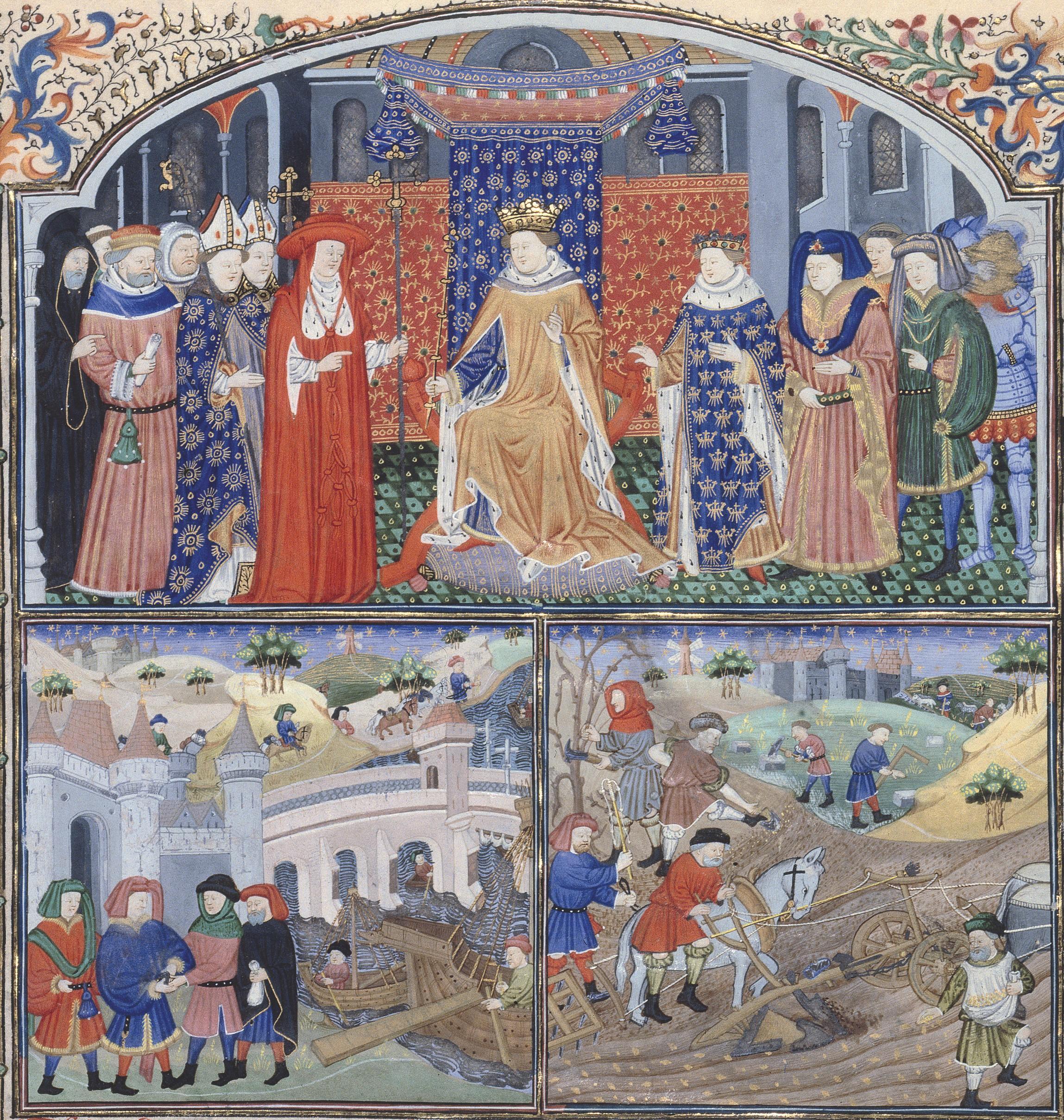 Enluminure, Gilles de Rome, Le régime des princes, XVe siècle