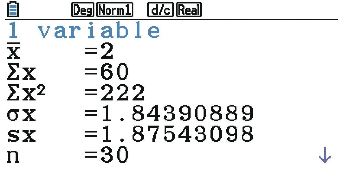 Moyenne et  écart-type - Statistiques descriptives