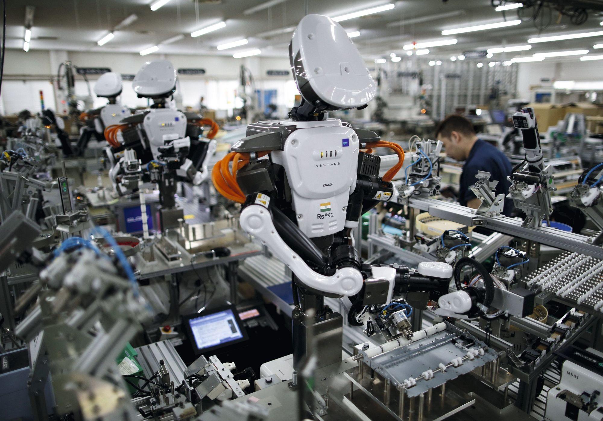 Un robot dans une usine japonaise