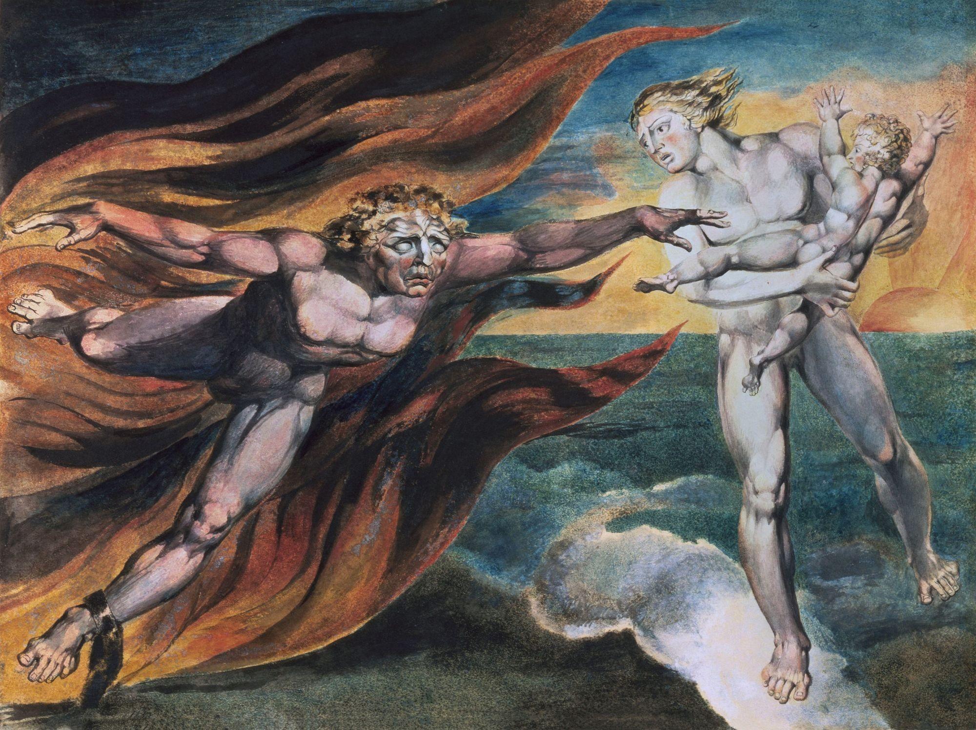 William Blake Les bons et mauvais anges