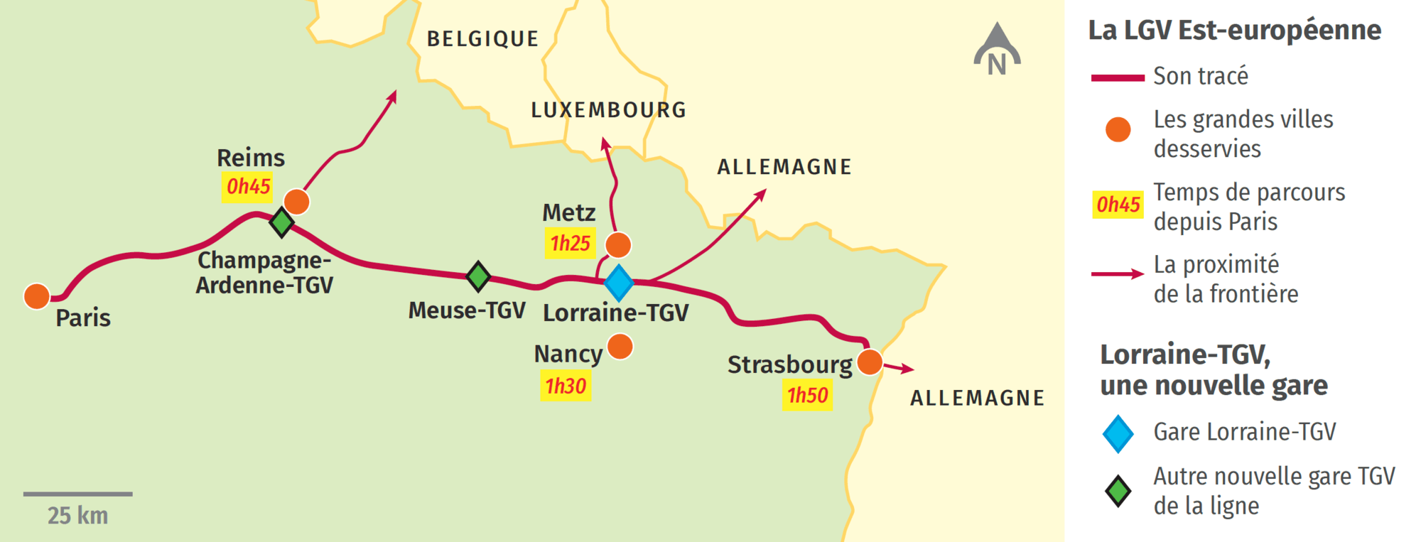 La gare Lorraine-TGV sur la LGV Est-européenne