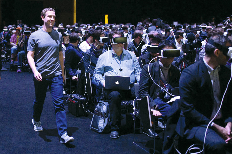 Mark Zuckerberg (fondateur de Facebook) au « Mobile World Congress » de Barcelone, 21 février 2016.