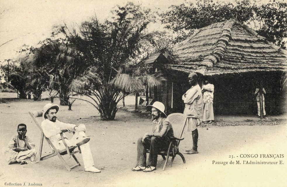 Carte postale, administration coloniale