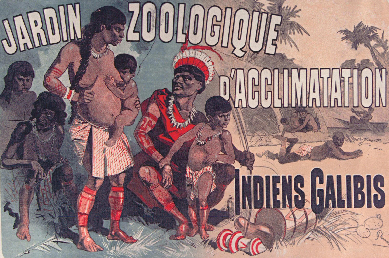 Jules Chéret, affiche pour l'exposition d'un village indigène au jardin zoologique de Paris, 1882