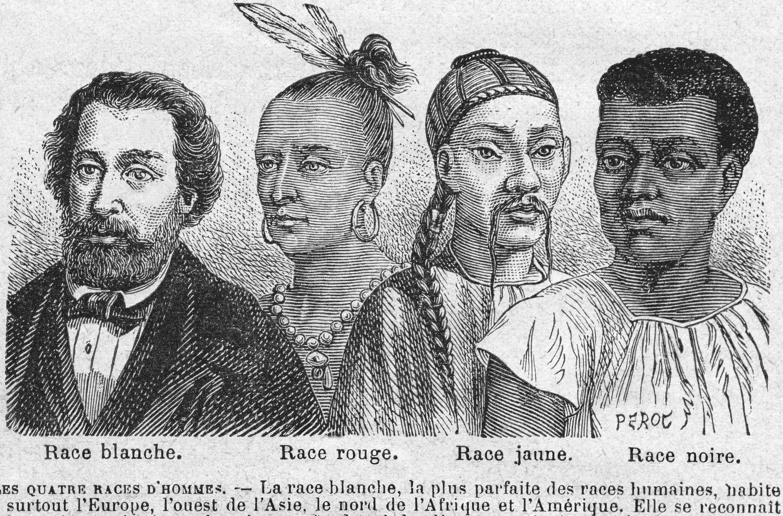 Les races humaines, Perot, illustration du livre d'Augustine Fouillée